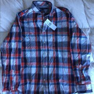 Tommy Hilfiger plaid button-down shirt NWT